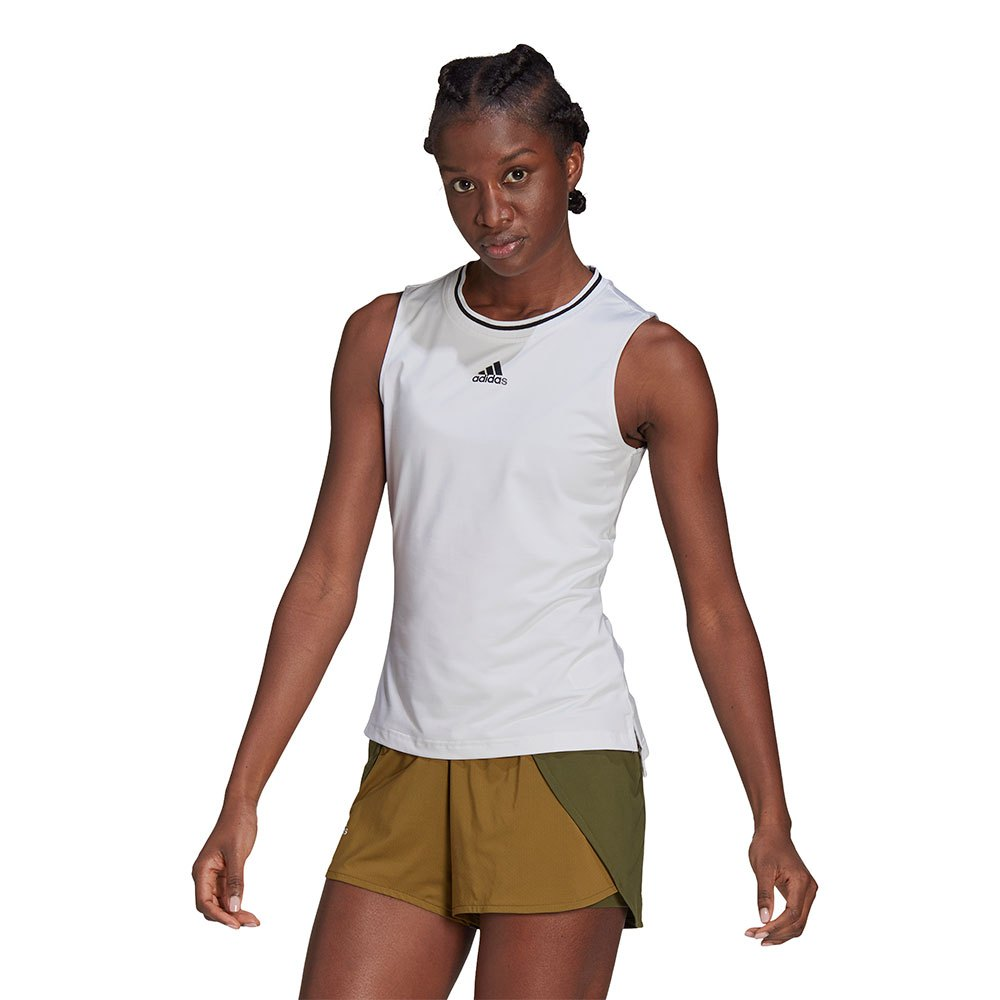 Adidas T-shirt Sans Manches Match L White / Black
