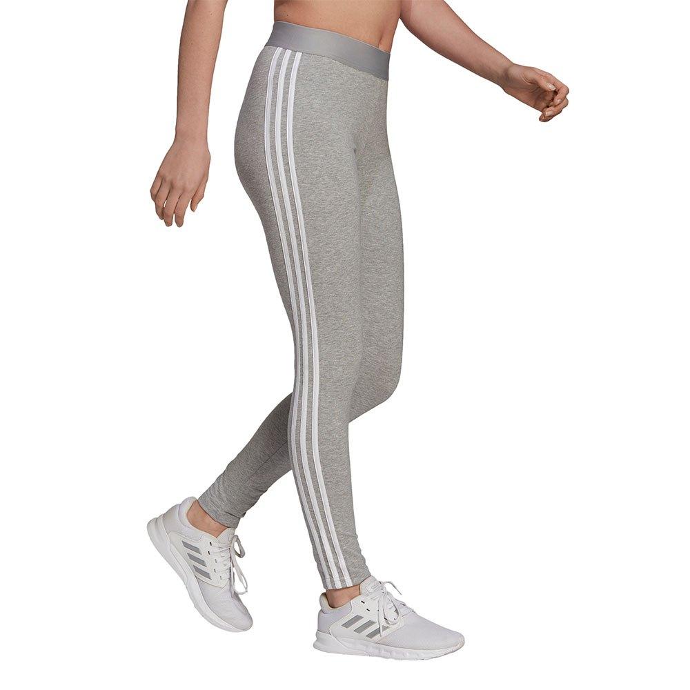 Adidas Essentials 3 Stripes M Medium Grey Heather / White