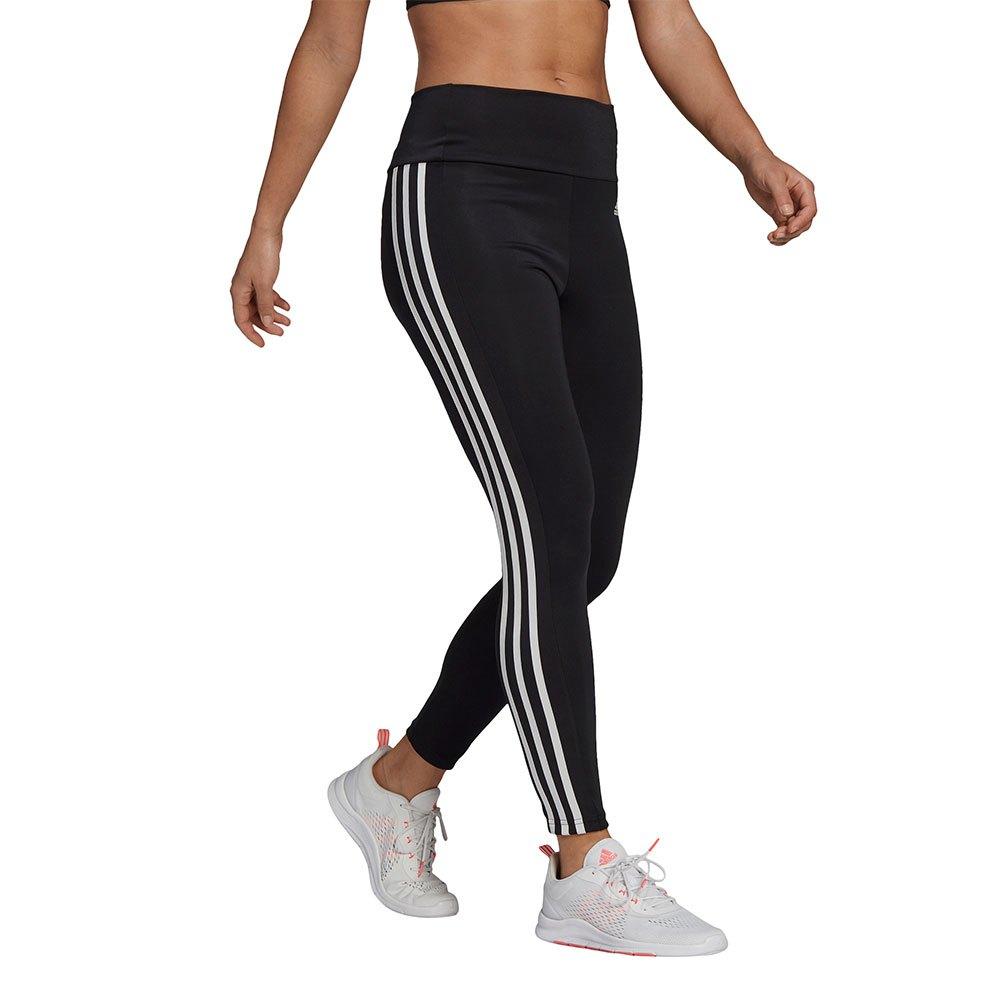 Adidas Mallas Designed 2 Move Cintura Alta 3 Stripes 7/8 XXL Black / White