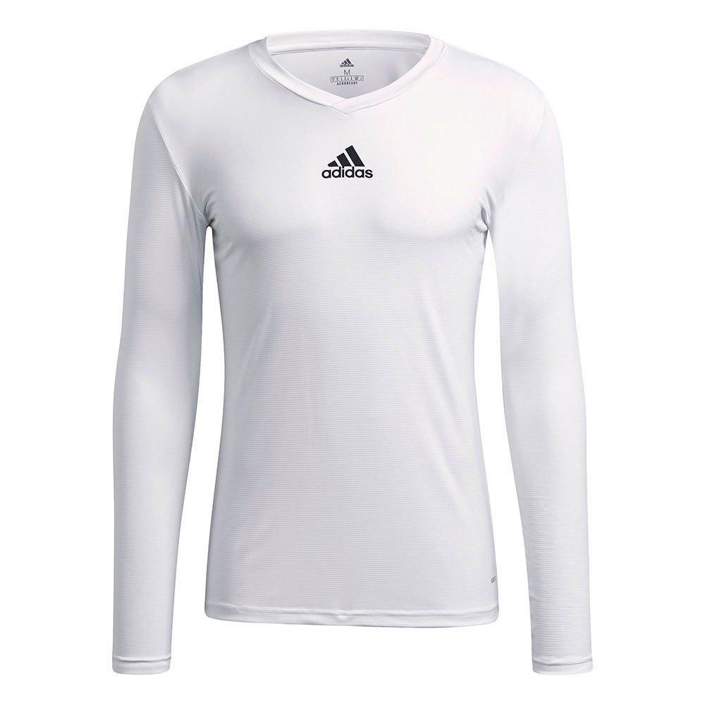 Adidas Team Base T-shirt Manche Longue L White