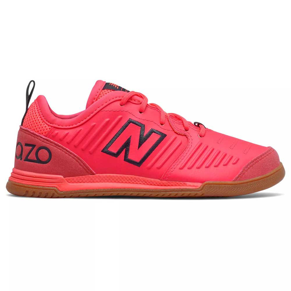 New Balance Chaussures Football Salle Large Audazo V5 Command In EU 32 Vivid Coral
