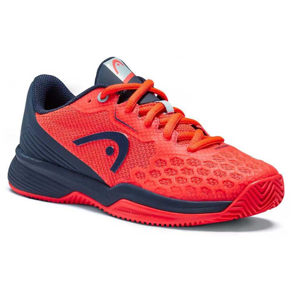 Head Racket Chaussures Terre Battue Revolt Pro 3.5 EU 31 1/2 Neon Red / Dress Blue