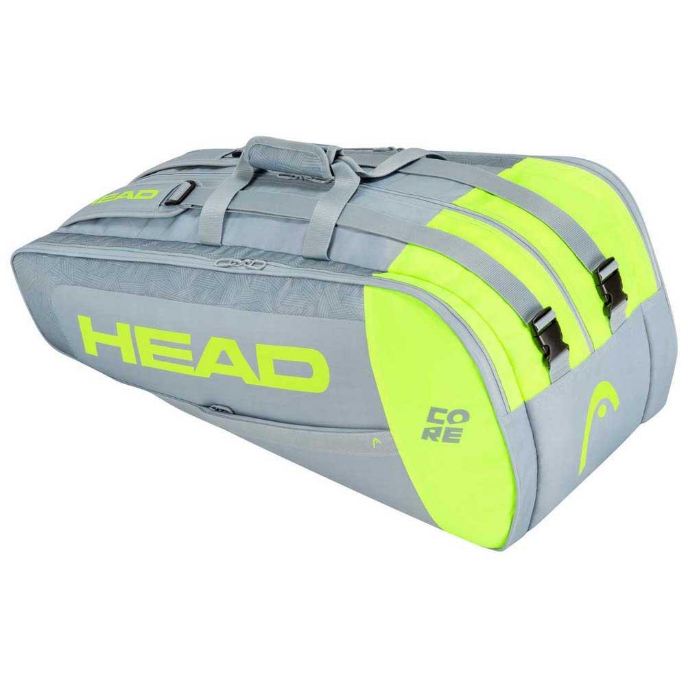 Head Racket Sac Raquettes Core Supercombi One Size Grey / Neon Yellow