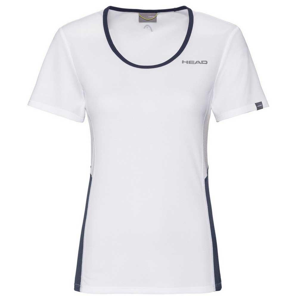 Head Racket T-shirt Manche Courte Club Tech XL White / Dark Blue