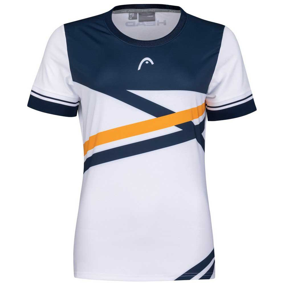 Head Racket T-shirt Manche Courte Performance S Print Perf W / Orange