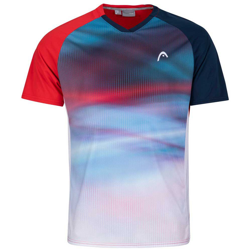 Head Racket T-shirt Manche Courte Striker 128 cm Red / Print Vision