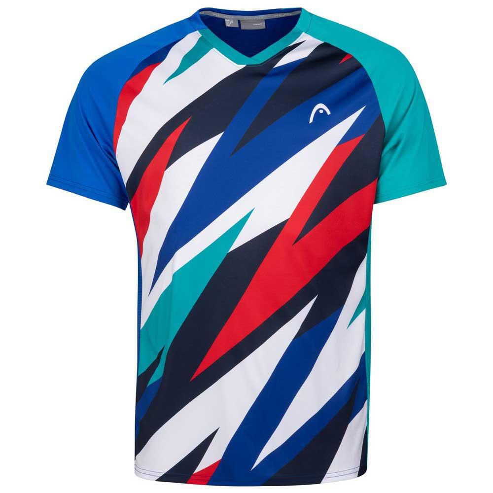 Head Racket T-shirt Manche Courte Striker 128 cm Royal / Print Vision
