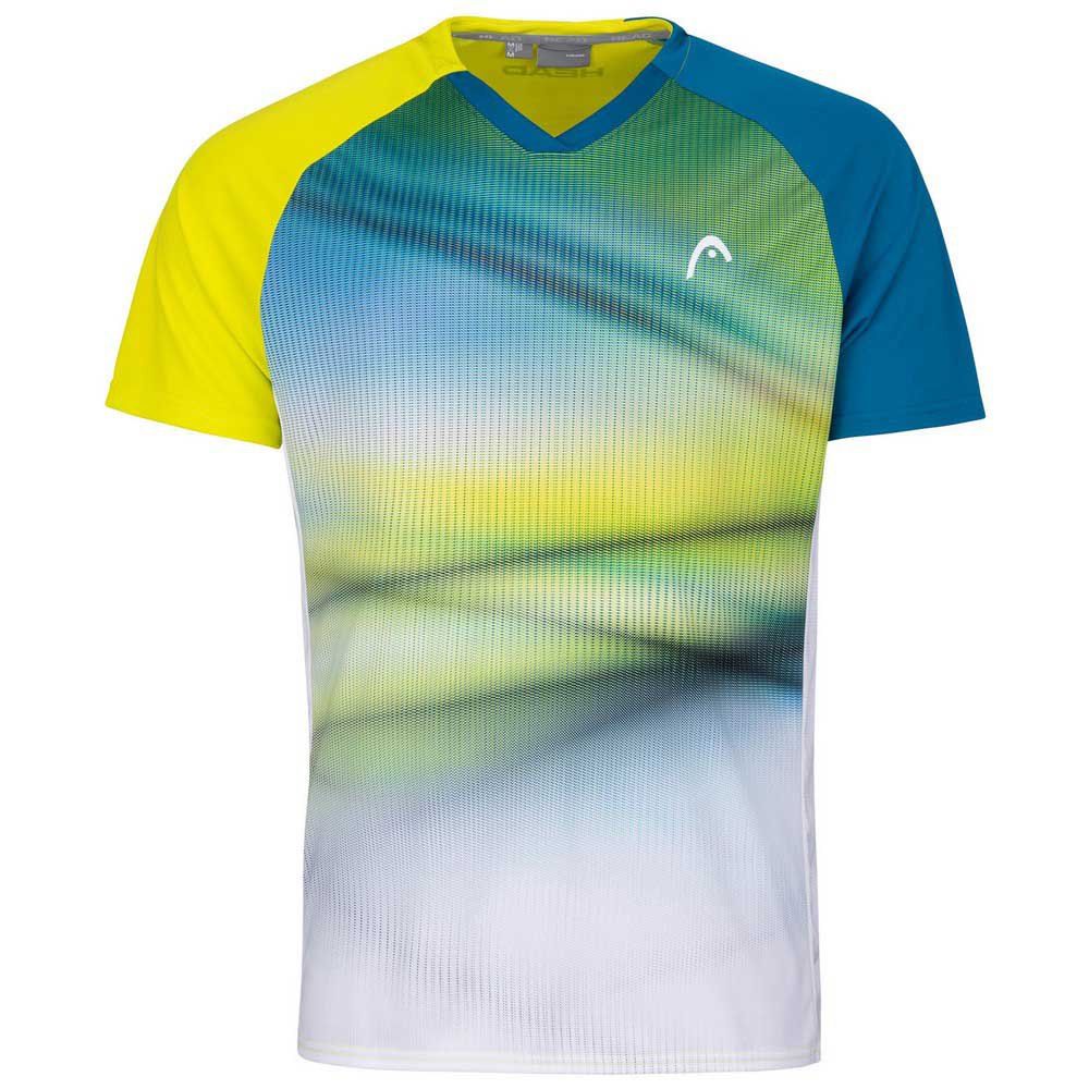 Head Racket T-shirt Manche Courte Striker 128 cm Yellow / Print Vision