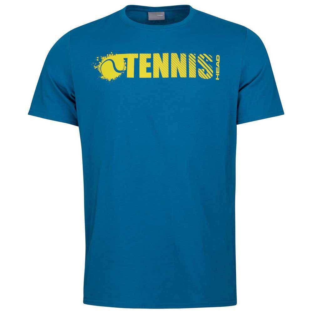Head Racket T-shirt Manche Courte Font 152 cm Blue