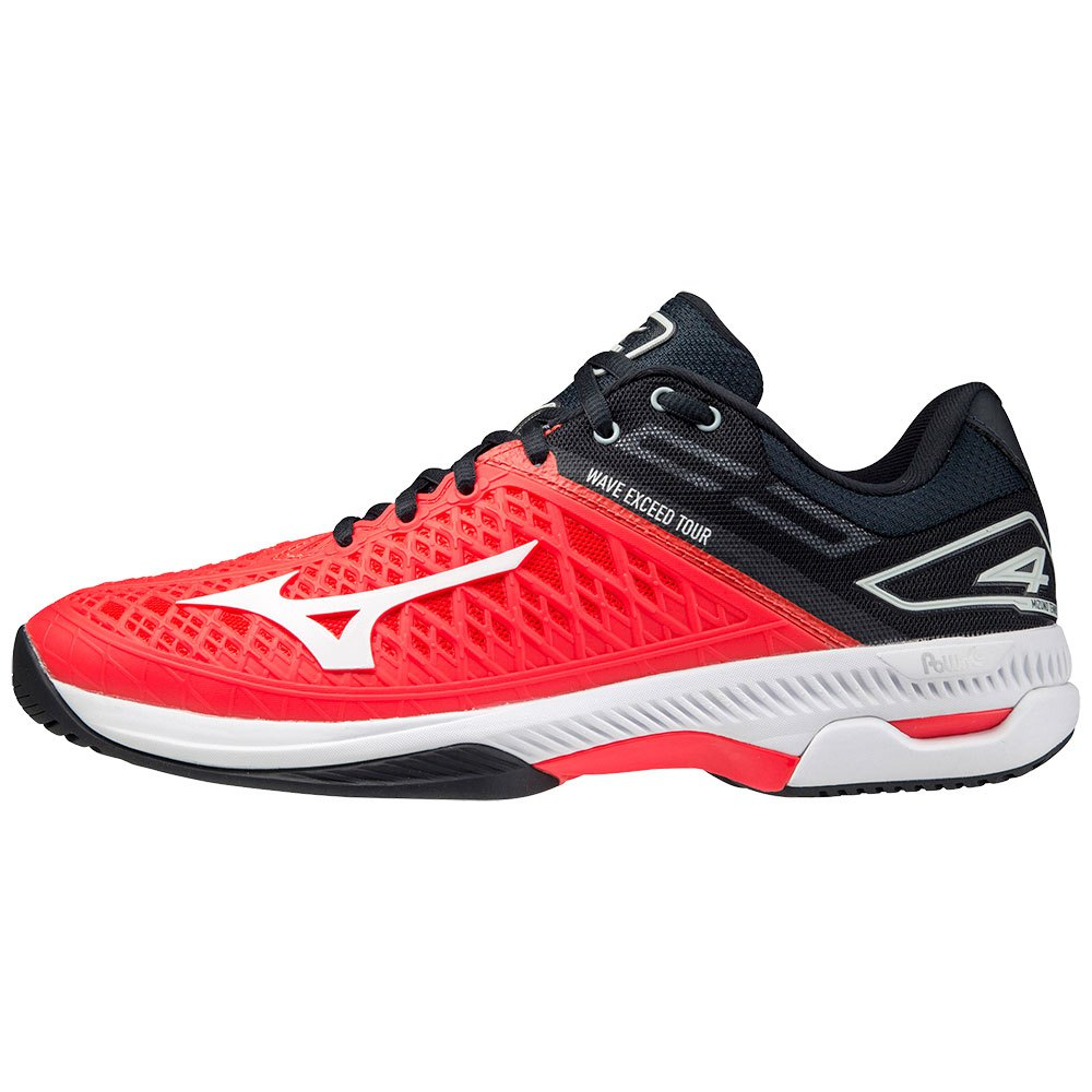 Mizuno Wave Exceed Tour 4 All Court EU 42 Ignition Red / White / Salute