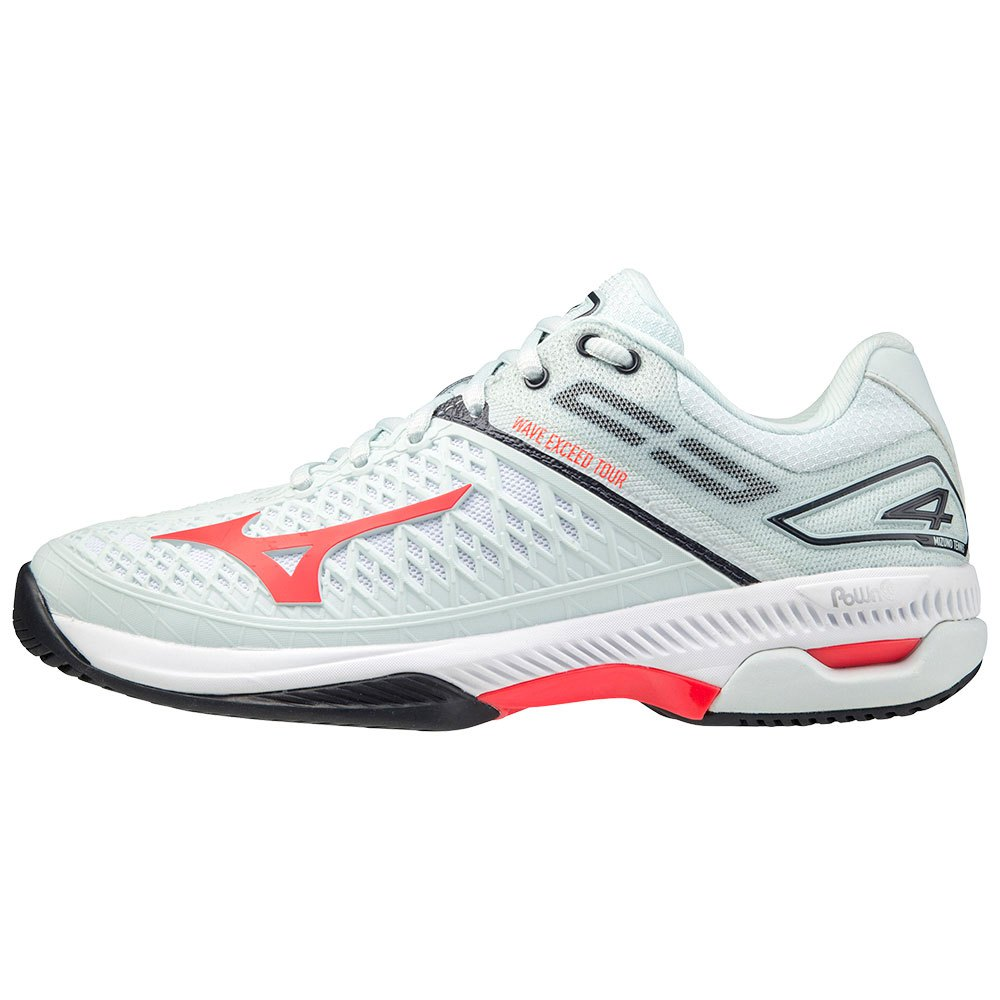 Mizuno Chaussures Tous Les Courts Wave Exceed Tour 4 EU 40 1/2 Wan Blue / Ignition Red / Salute
