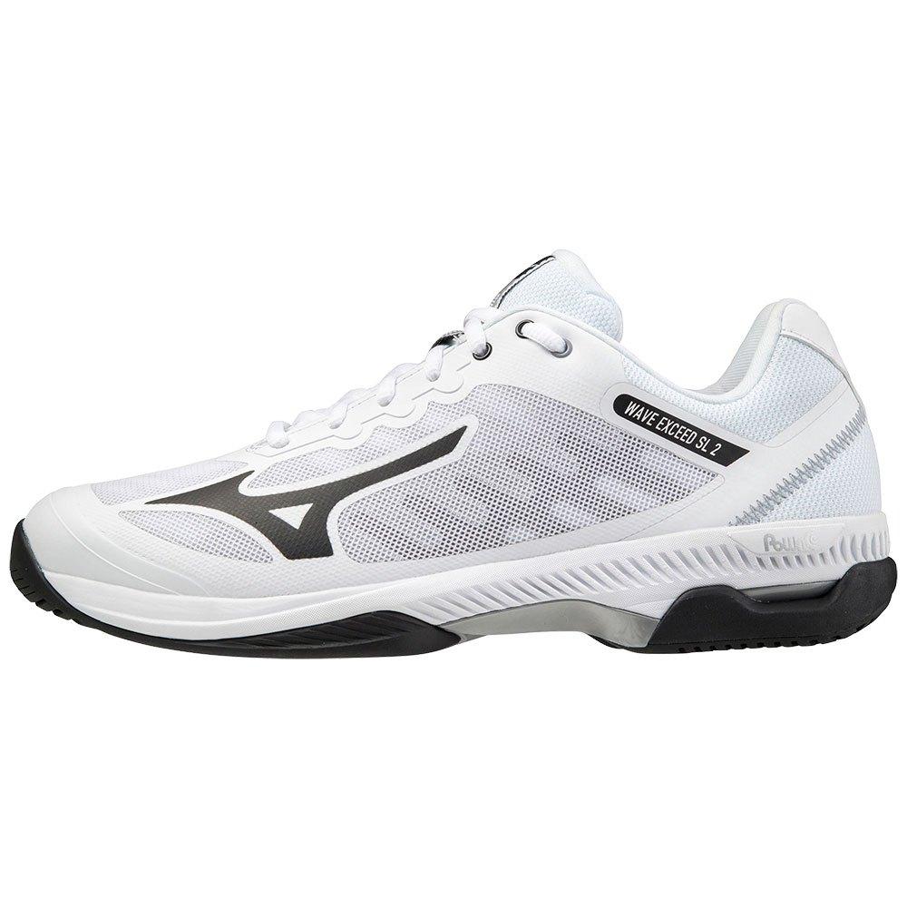 Mizuno Chaussures Tous Les Courts Wave Exceed Sl 2 EU 40 1/2 White / Black / Lunar Rock