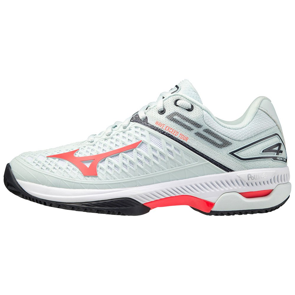 Mizuno Chaussures Terre Battue Wave Exceed Tour 4 EU 40 1/2 Wan Blue / Ignition Red / Salute