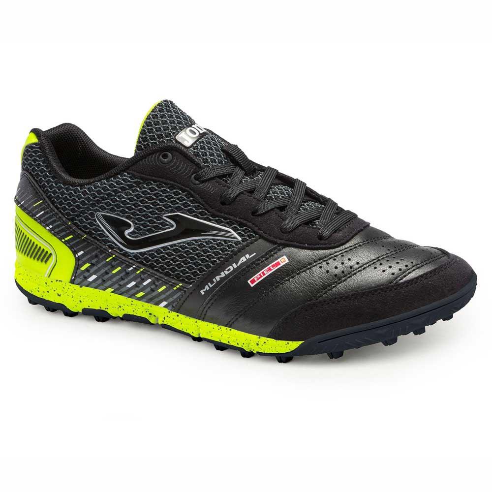 Joma Chaussures Football Mundial Tf EU 39 Black / Yellow Fluor