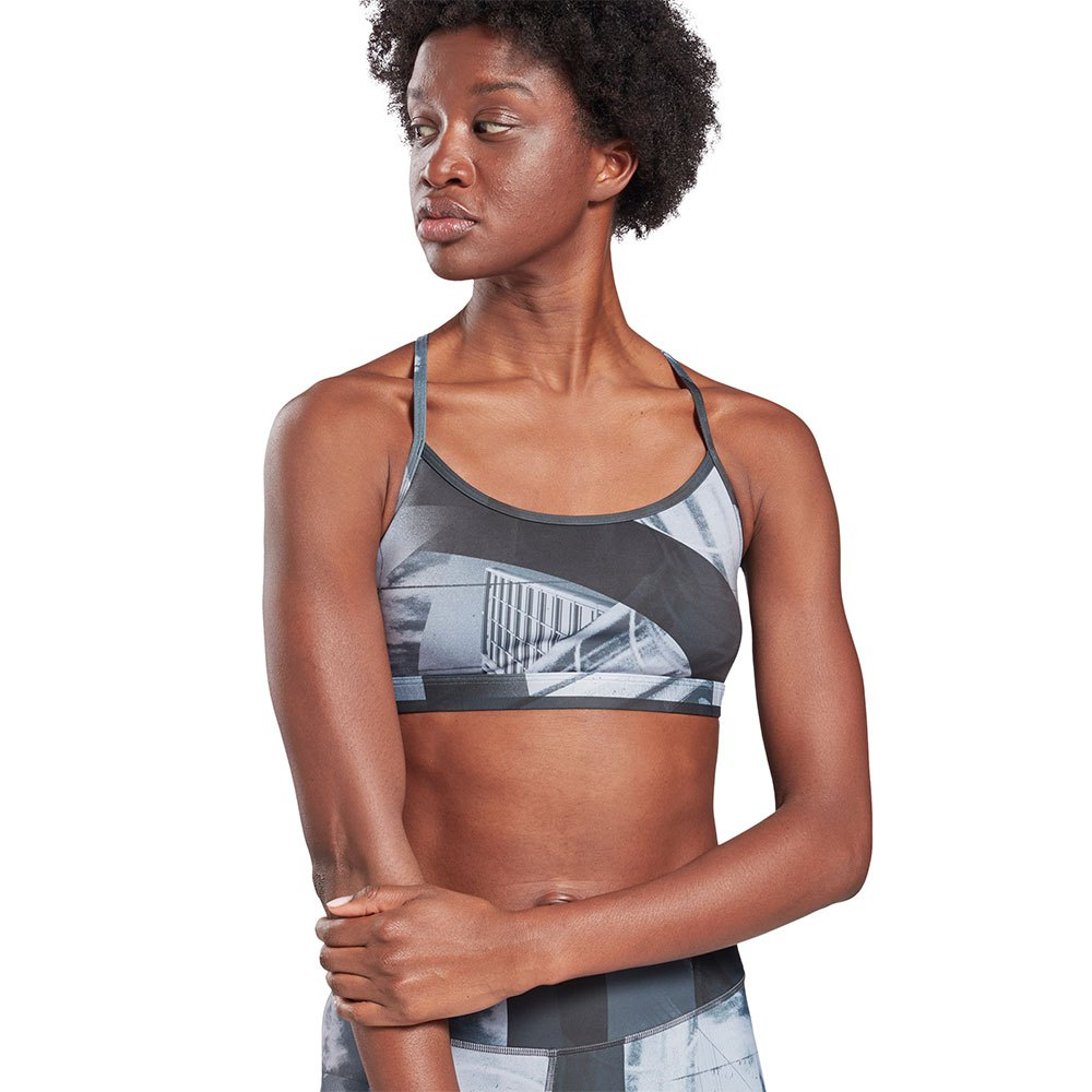 Reebok United By Fitness Speedwick Flat On Your Back Skinny Medium Support M Black