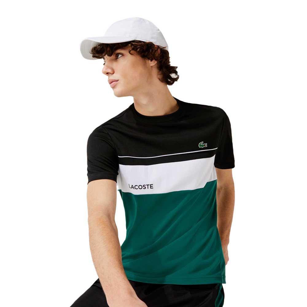 Lacoste Sport Crew Breathable Colourblock XL Noir / Bouteille-Blanc