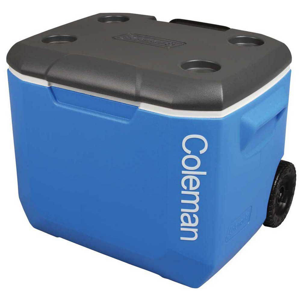 Coleman Rigid Cooler With Wheels 56l One Size Black / Blue