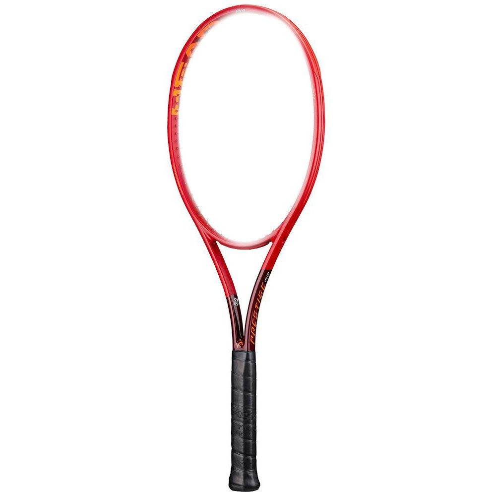 Head Racket Raquette Tennis Sans Cordage Graphene 360+ Prestige Mid 1 Red / Black