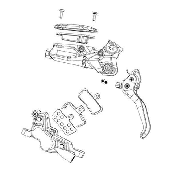 Sram G2 Ult/rsc Disc Brake Lever Hardware Upgrade Kit One Size Rainbow