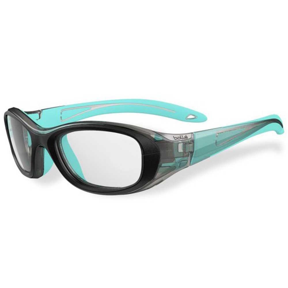 Bolle Lunettes Squash Coverage 48 Junior PC Clear Antifog Antiscratch/CAT0 Black / Blue Lagoon