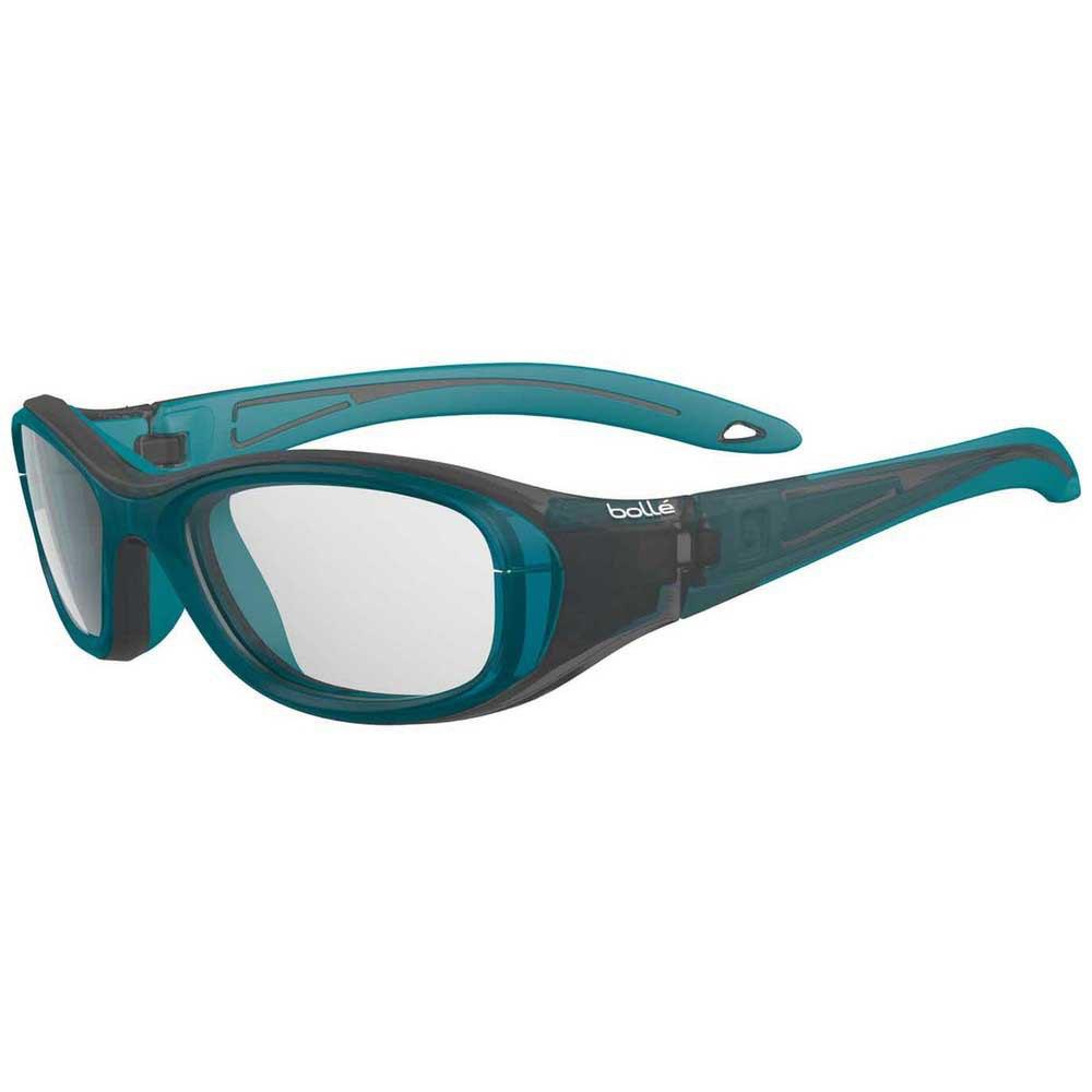 Bolle Coverage 52 Junior PC Clear Platinum/CAT0 Matte Black / Turquoise