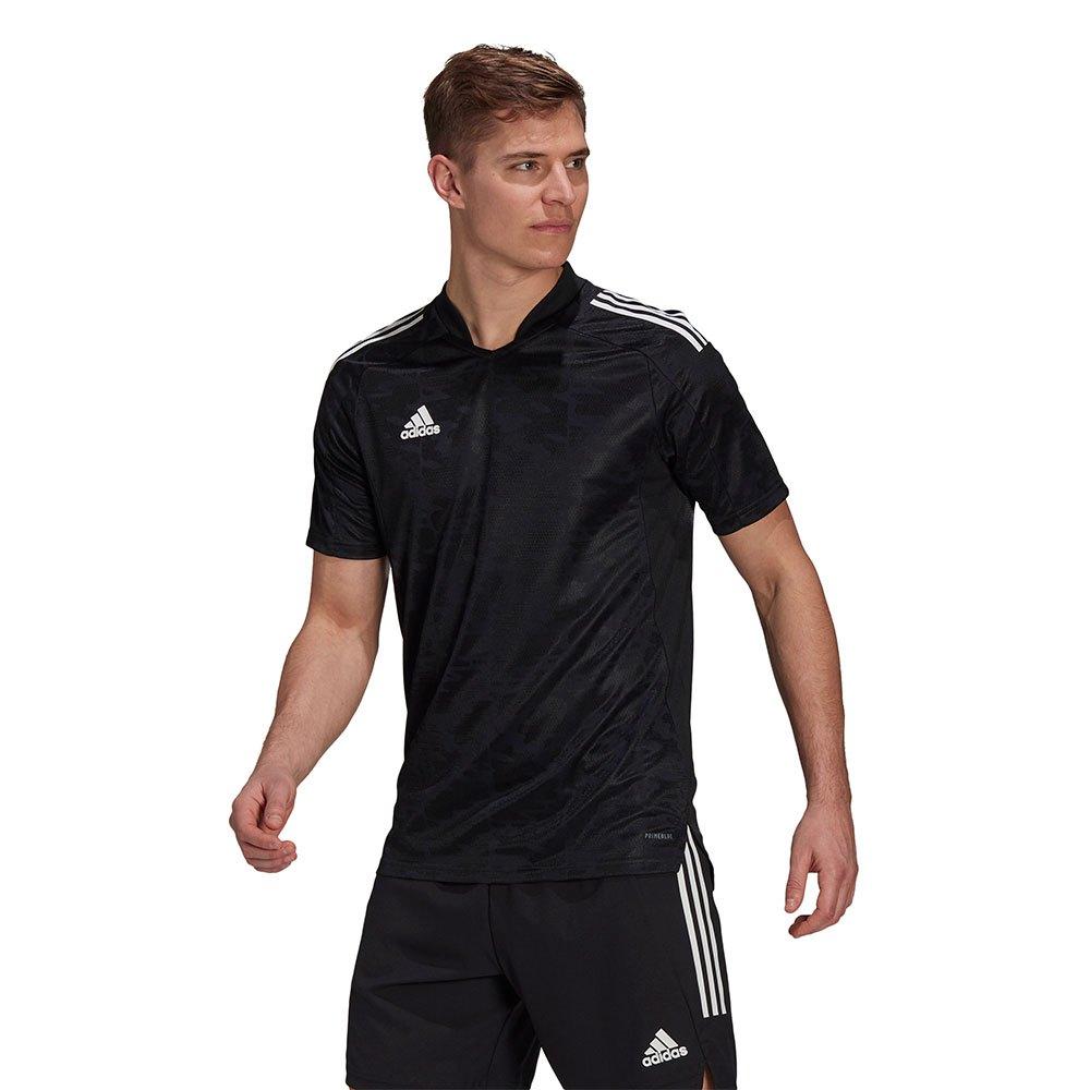 Adidas Condivo 21 Short Sleeve T-shirt S Black / White