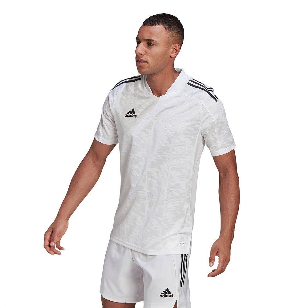 Adidas Condivo 21 Short Sleeve T-shirt XXL White / Black