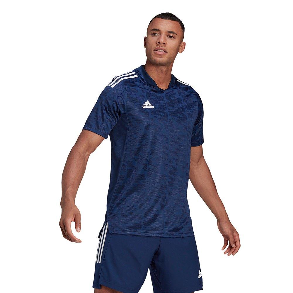 Adidas T-shirt Manche Courte Condivo 21 S Team Navy Blue / White