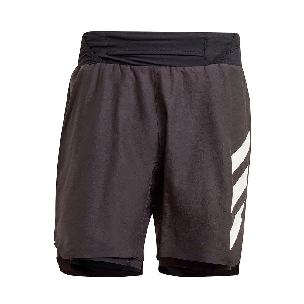 Adidas Pantalones Cortos Terrex Agravic 2 In 1 XL Black / White