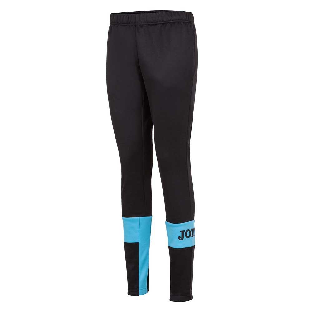 Joma Pantalon Longue Crew Iv M Black / Turquoise