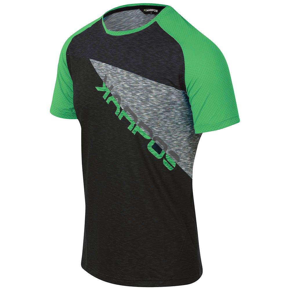 Karpos T-shirt Manche Courte Croda Rossa S Black / Green Fluo