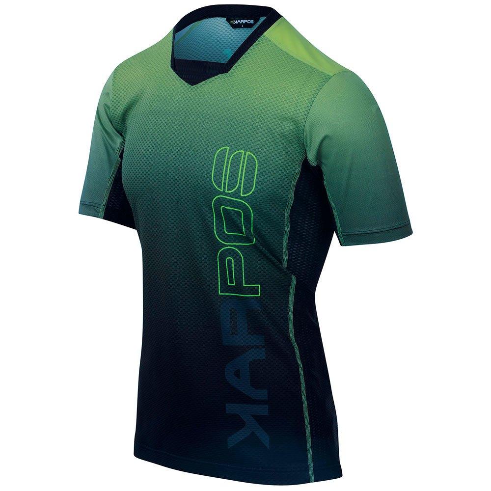 Karpos T-shirt Manche Courte Verve L Black / Green Fluo