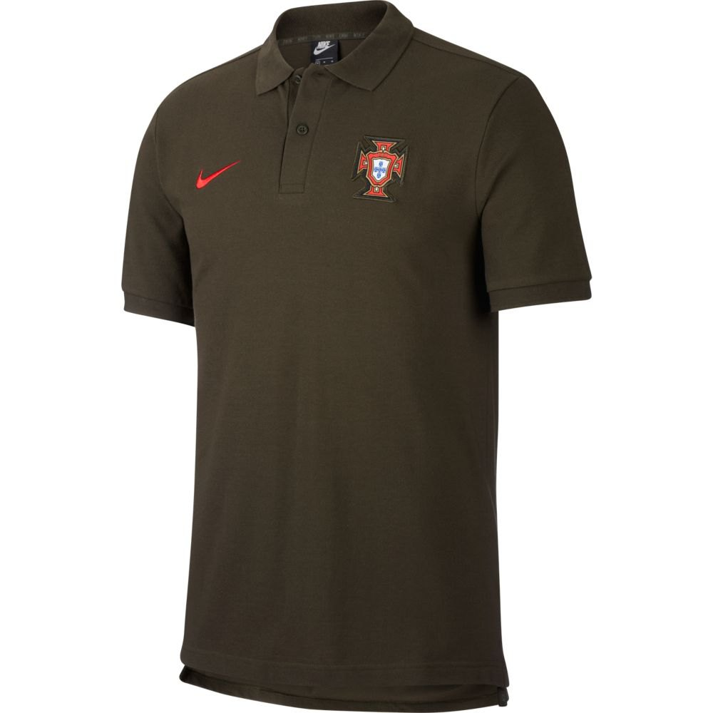 Nike Polo Angleterre 2020 L Sequoia / Sport Red