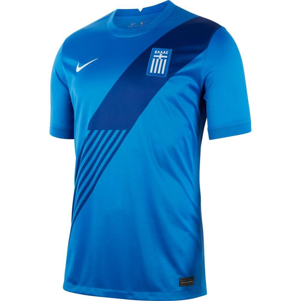 Nike T-shirt Greece Breathe Stadium Extérieur 20/21 M Royal Blue / White