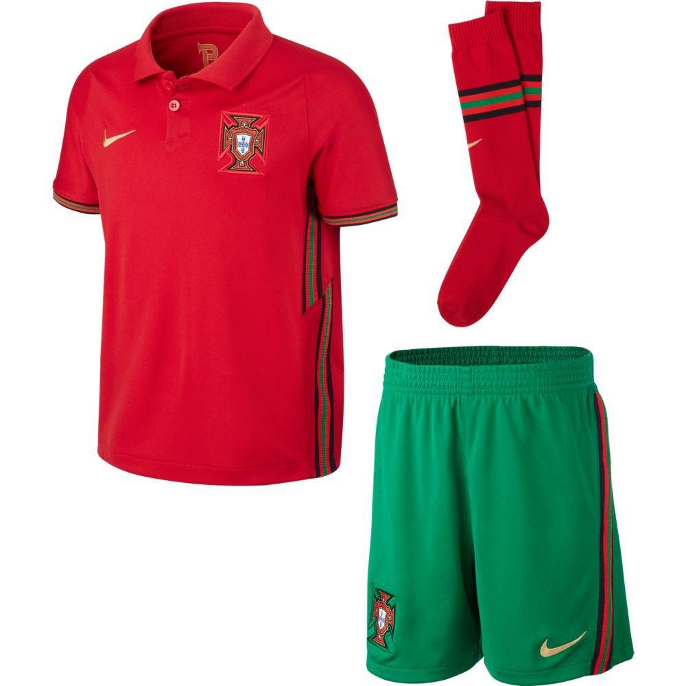 Nike Ensemble Portugal Breathe Domicile 20/21 Junior S Gym Red / Metallic Gold