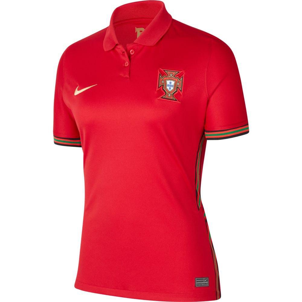 Nike T-shirt Portugal Breathe Stadium Domicile 20/21 S Gym Red / Metallic Gold