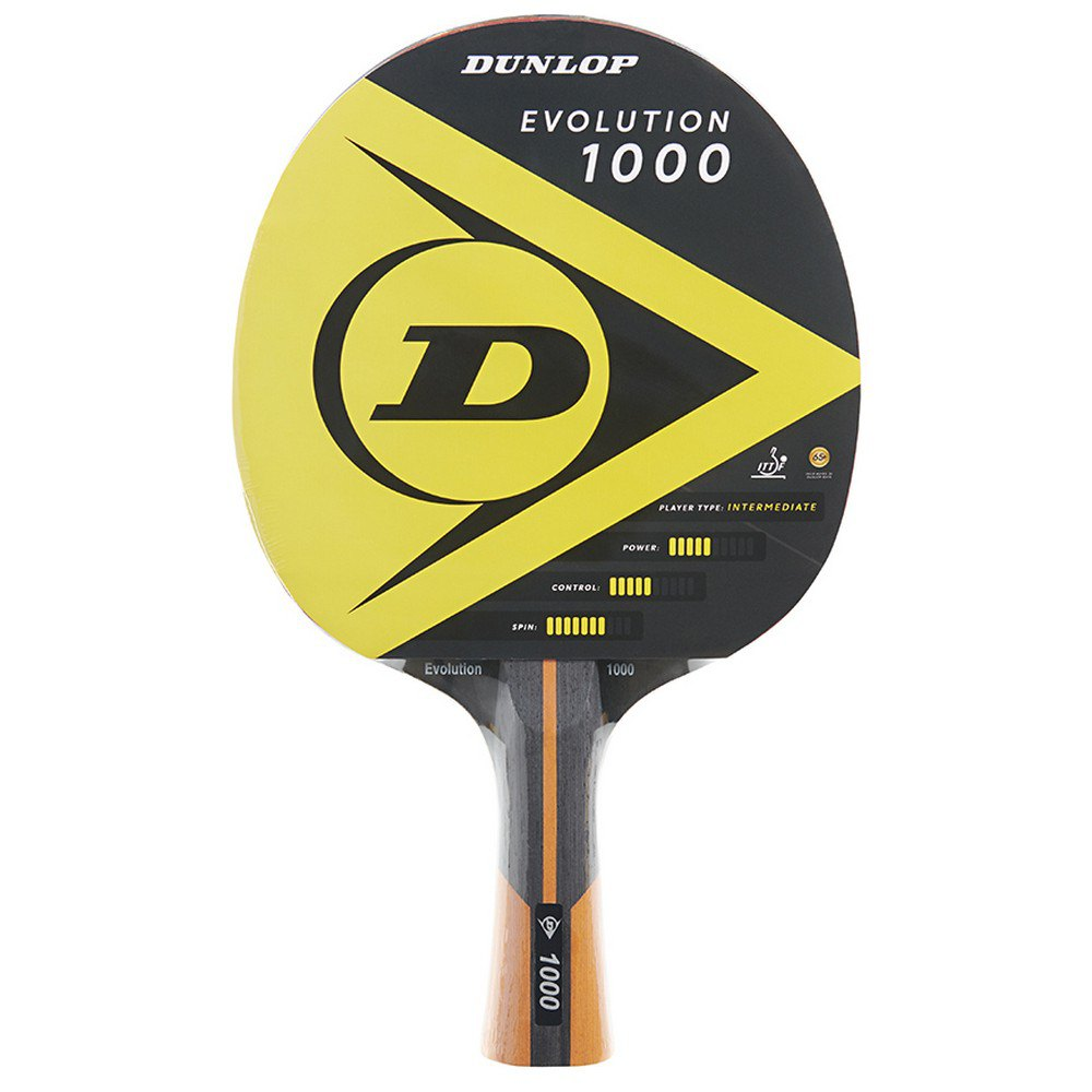 Dunlop Evolution 1000 Table Tennis Racket One Size Yellow / Black