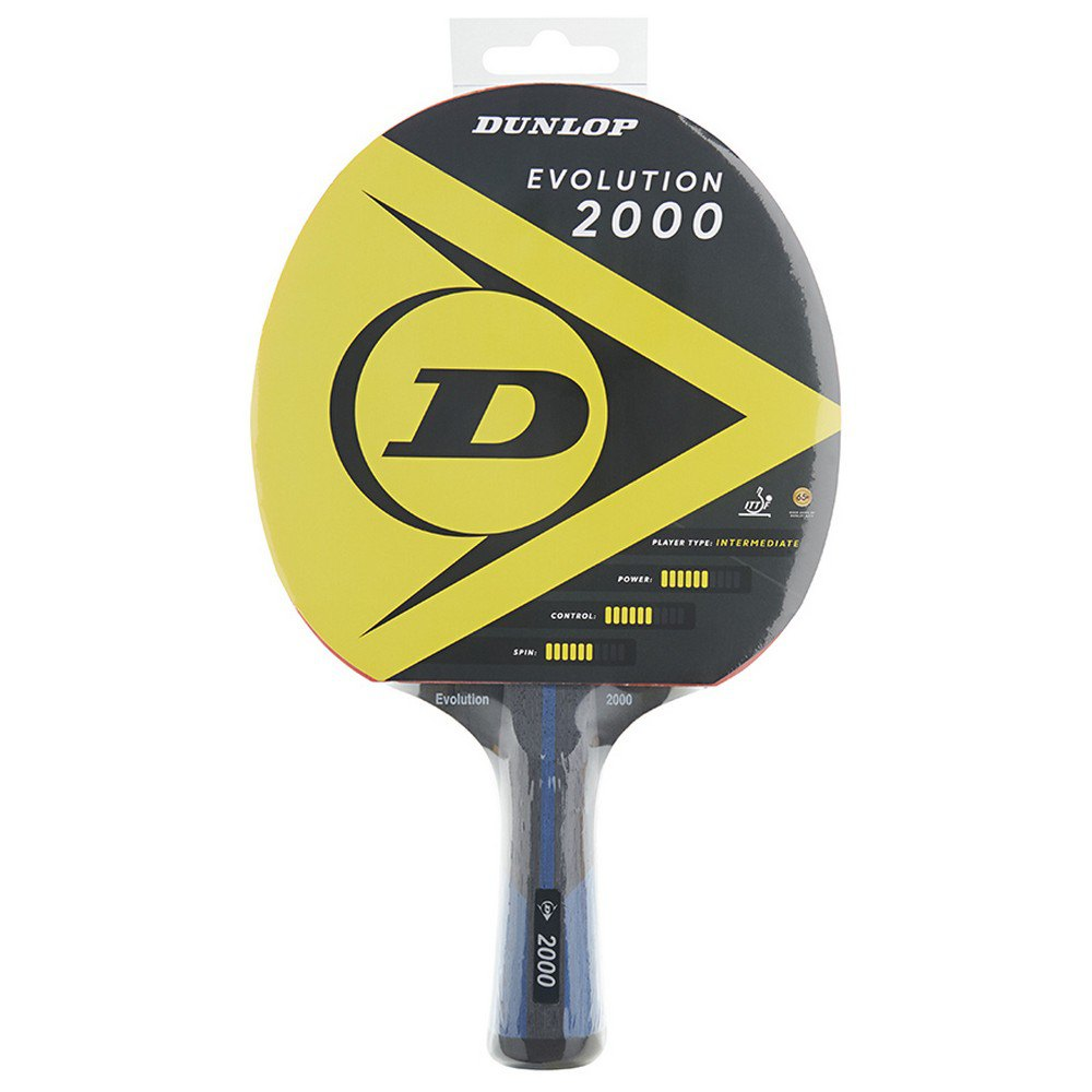 Dunlop Evolution 2000 Table Tennis Racket One Size Yellow / Black