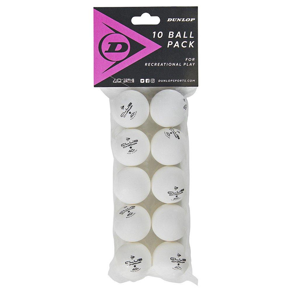 Dunlop Club Champ 40+ Mm Table Tennis Balls 10 Balls White
