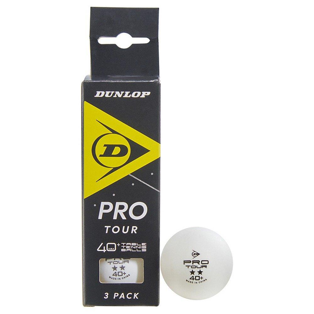 Dunlop Pro Tour 40+ Mm 3 Balls White
