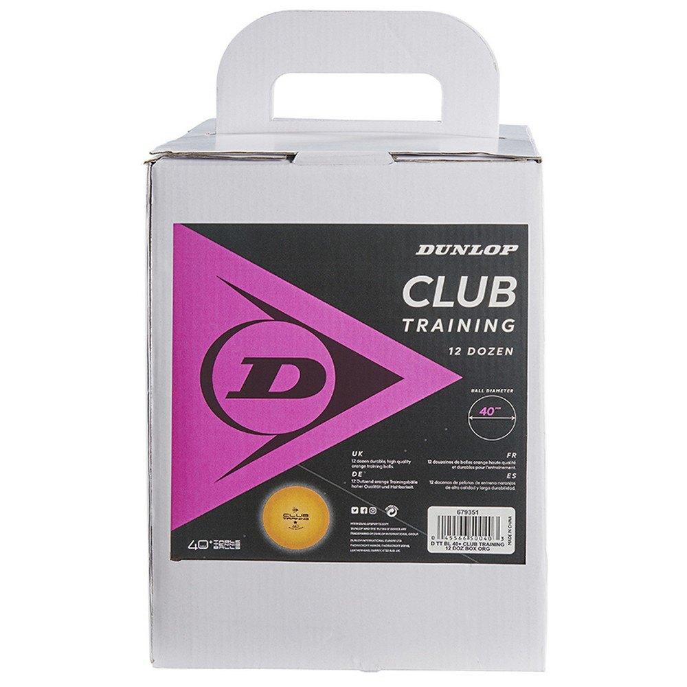 Dunlop Balles Tennis Table Club Training 40+ Mm 144 Balls Orange