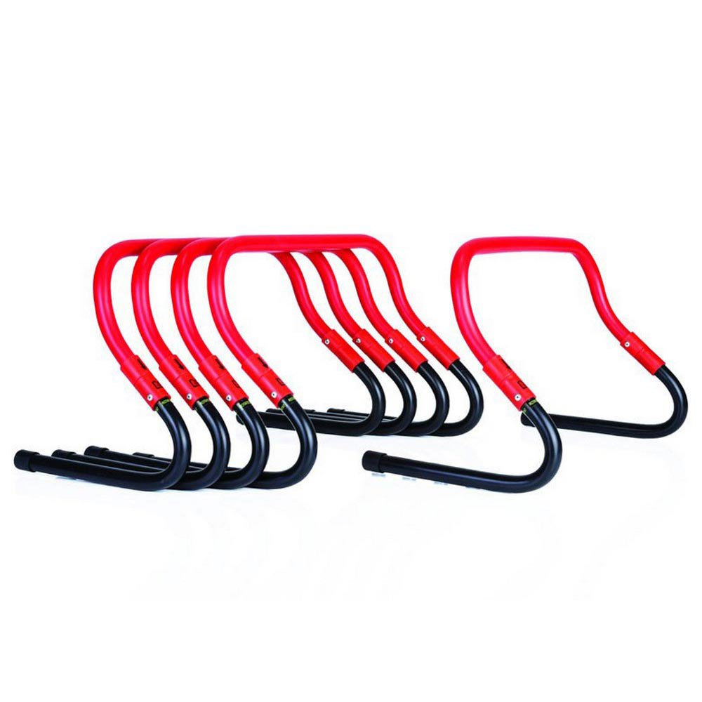 Gymstick Speed Hurdles 5 Units 15-30 Cm 46 x 28.5 x 30.5 cm Black / Red