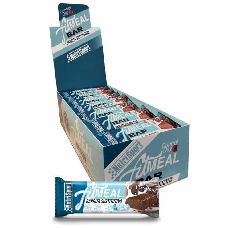 Nutrisport Fit Meal 37.5gr X 28 Bars Chocolate / Milk