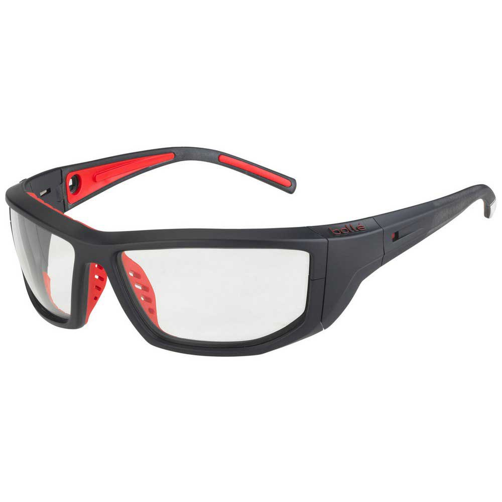 Bolle Playoff Photochromic PC Grey AF/CAT0-3 Matte Navy / Fluo Red