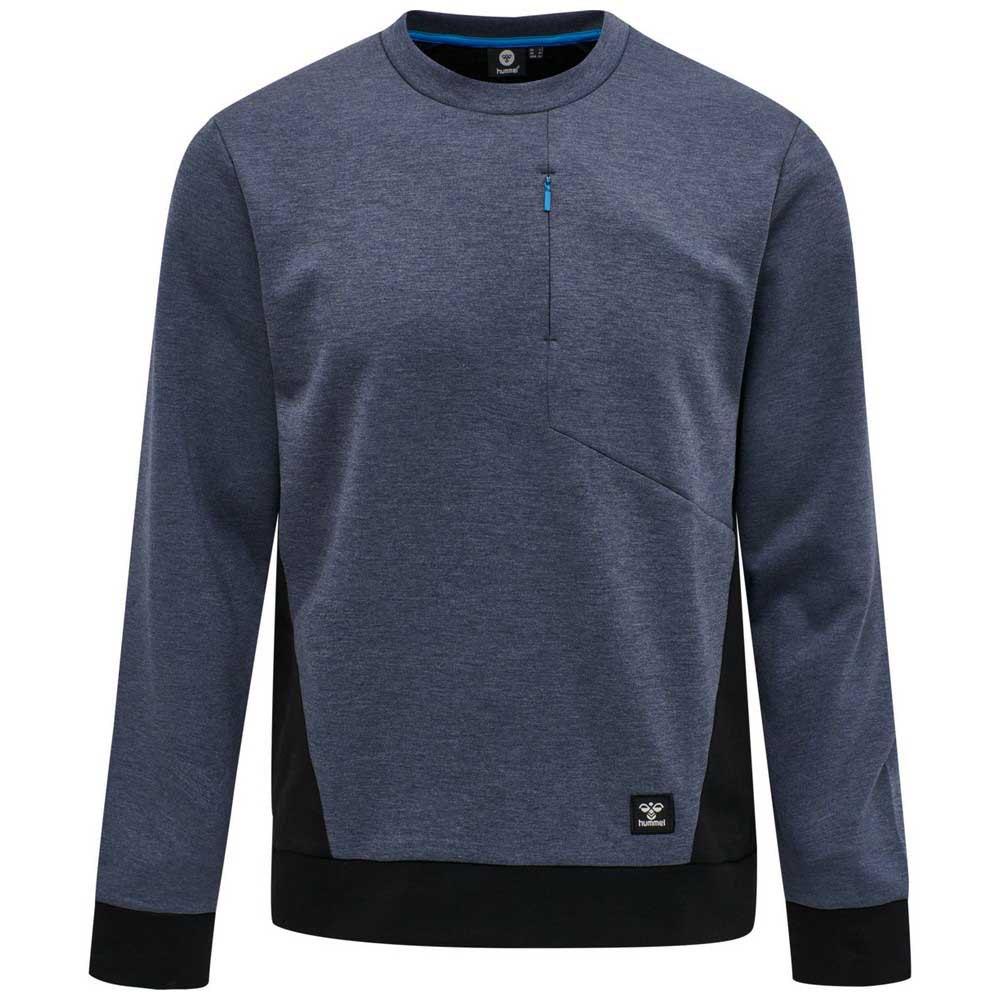 Hummel Sweatshirt Tropper S Black Iris Melange
