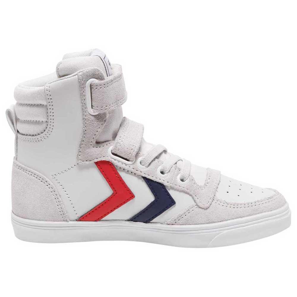 Hummel Chaussures Cuir Slimmer Stadil High EU 26 White