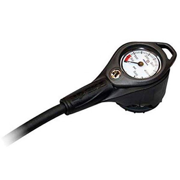 Apeks Press Gauge+compass With Narrow Hose Black KONSOLEN Press Gauge+compass With Narrow Hose