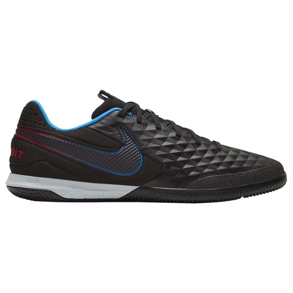 Nike Chaussures Football Salle React Tiempo Legend Viii Pro Ic EU 44 Black / Black / Siren Red / Lt Photo Blue