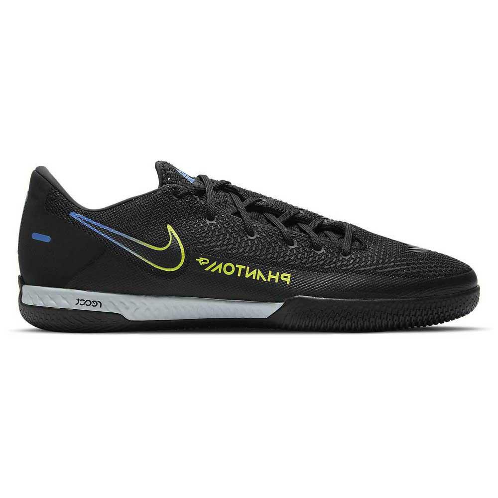 Nike Chaussures Football Salle React Phantom Gt Pro Ic EU 40 1/2 Black / Black / Cyber / Lt Photo Blue