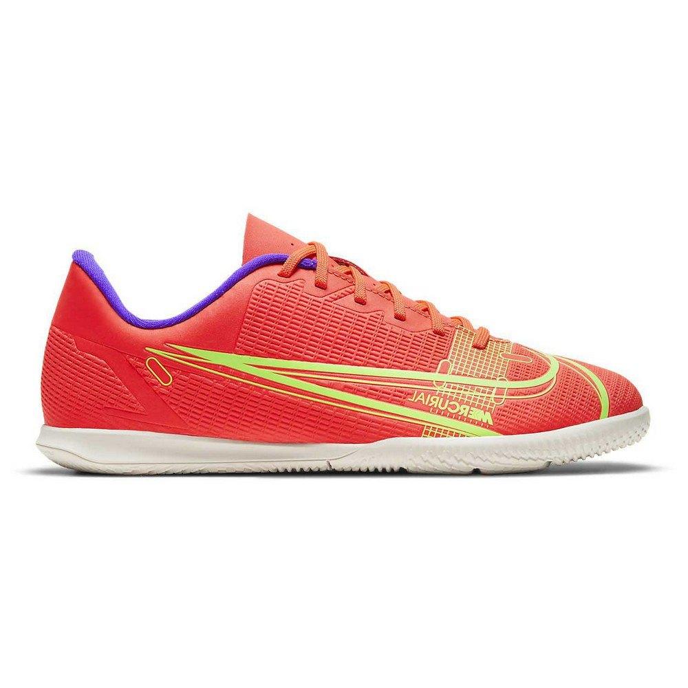 Nike Chaussures Football Salle Mercurial Vapor Xiv Club Ic EU 33 Bright Crimson / Metallic Silver